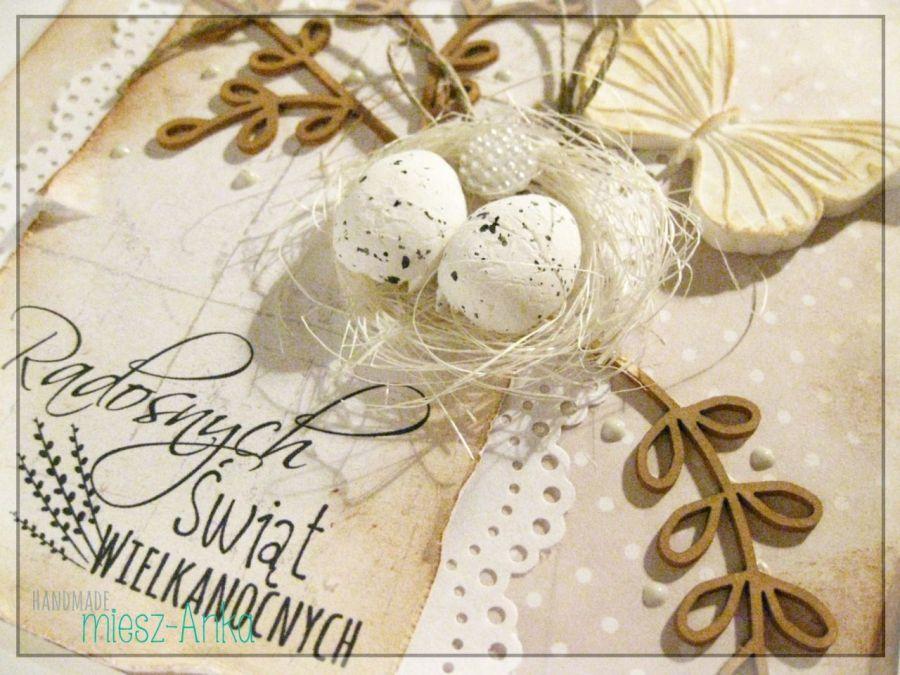 Kartka wielkanocna z jajeczkami 2