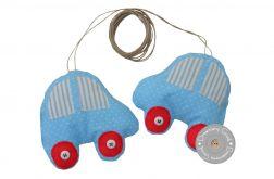 podwiązka do zasłon samochodziki błękitne