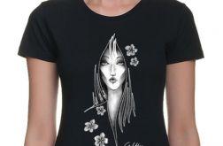 Kwiaty - t-shirt damski (kolory) 2