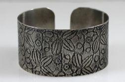Metalowa bransoleta - liście 171029-02