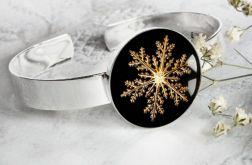 ŚNIEŻYNKI unikalna bransoletka świąteczna