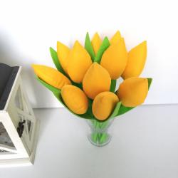 Tulipan szyty żółty