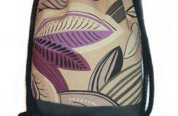 Plecak damski młodzieżowy liść