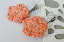 spinki handmade 2 szt. kwiatki szydełkowe2