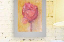 Rysunek kwiat na szarym tle nr 2