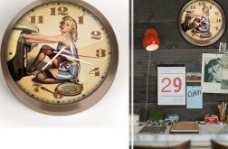 Zegar ścienny 30 cm PinUp Girl
