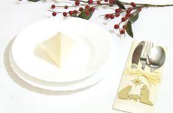 Etui na sztućce dekoracja stołu - Boże Narodzenie - Święta Rodzina