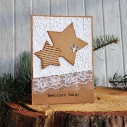 Kartka świąteczna z gwiazdkami