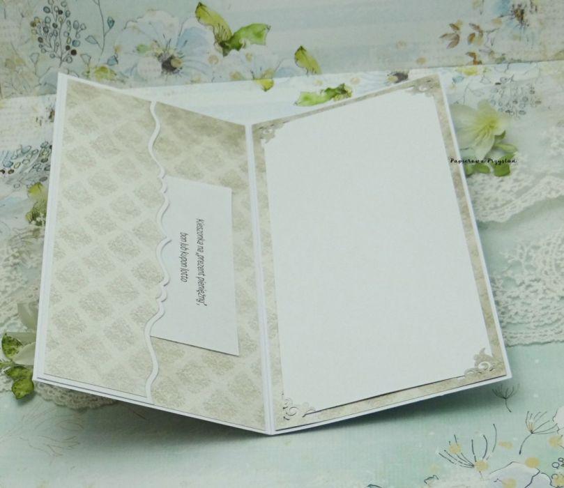 Kartka ślubna z sercami w pudełku - kartka na ślub