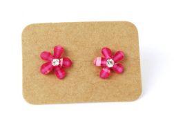 Kolczyki kwiatuszki małe różowe