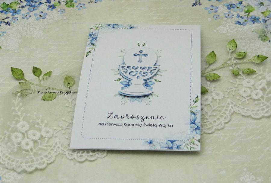 Zaproszenie na Komunię z grafiką ZKG 24 - zaproszenia na komunię dla chłopca