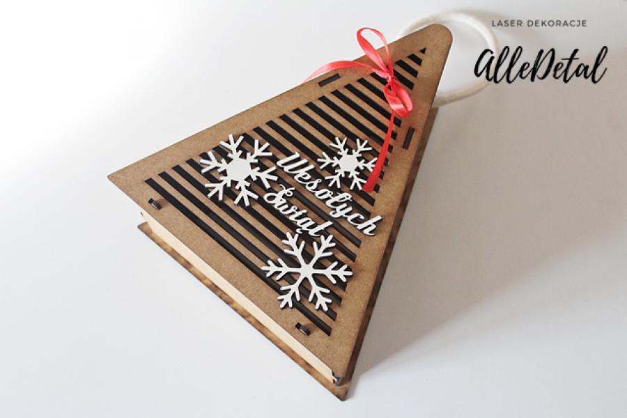 CHOINKA pudełko na słodycze prezent skrzynka