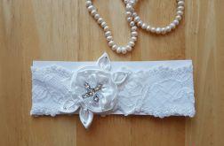 Biala Podwiązka ślubna