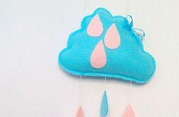 Chmurka deszczowa.szaro-różowa