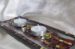 Mozaika podstawek na świece-sprzedane