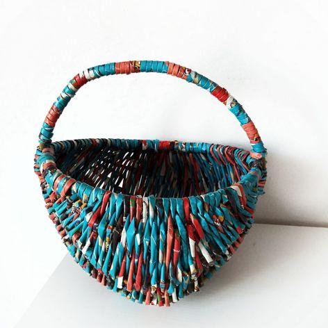 Niebiesko - czerwony kosz