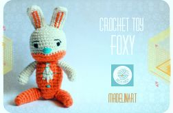 Zabawka przytulanka Królik FOXY