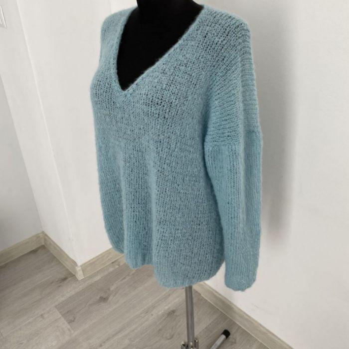 Lekki sweter oversize (alpaka z jedwabiem) - lekki sweter