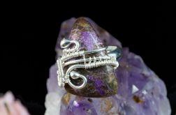 Srebrny pierścionek z purpurytem