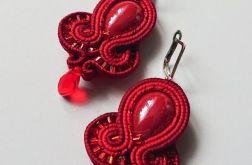 Czerwone kolczyki z ceramiką