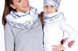 Komplet czapka i komin mama i córka