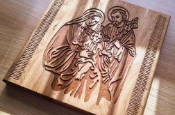 Obraz w Drewnie - Święta Rodzina