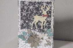 Kartka świąteczna Boże Narodzenie renifer duża A5