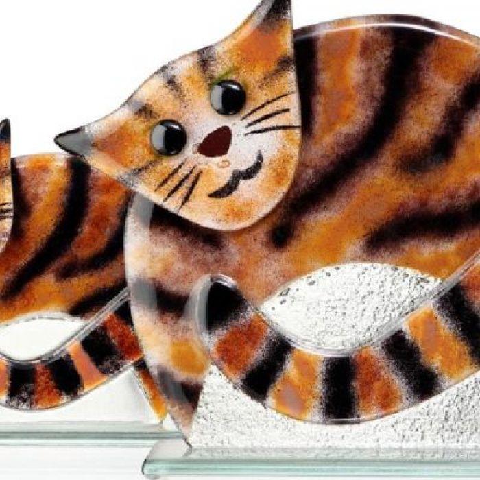 Kot duży ze szkła