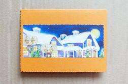 Kartka świąteczna - zimowy pejzażyk nr 29