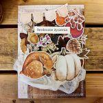 Jesienna nastrojowa kartka z sarenką - Z góry