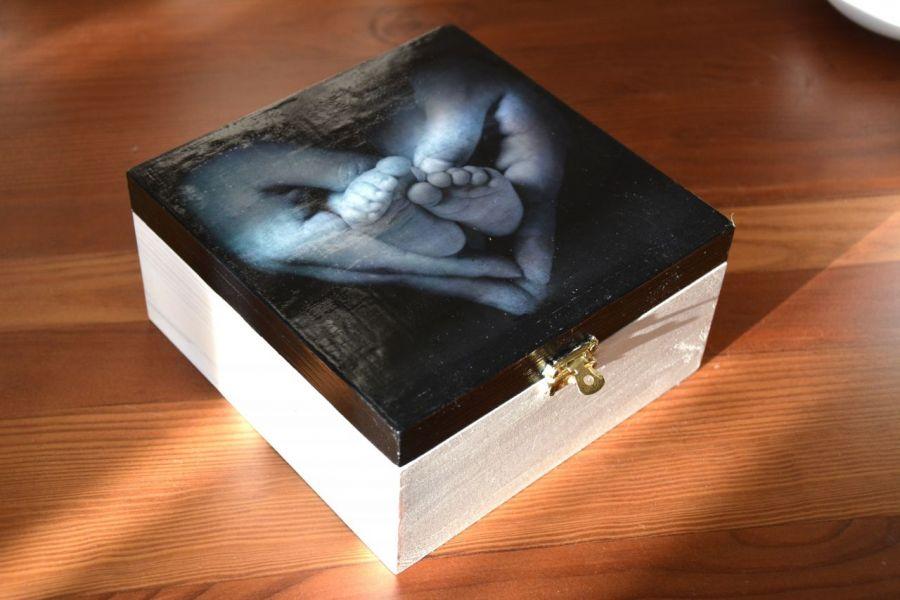 Pudełko małe stópki