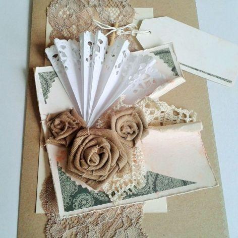 kartka retro z różami
