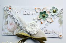 Kopertówka z okazji ślubu-  ' róża'
