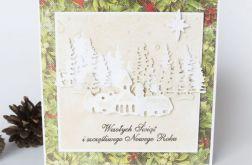 Kartka Świąteczna - zimowy krajobraz