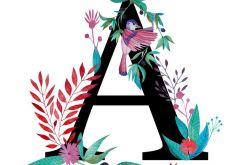 Alfabet A wydruk ilustracji