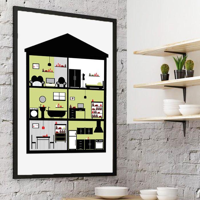 Plakat In House / Green