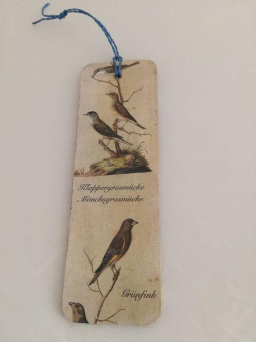 Zakładka do książki z ptaszkami i dziewczynką