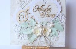 Kremowa kartka ślubna 180813