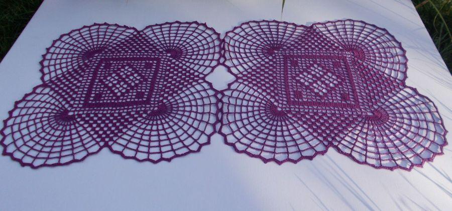 Serwetka Violet 60x31 - Serwetka koronkowa