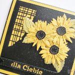 Kartka DLA CIEBIE ze słonecznikami - Uniwersalna kartka ze słonecznikami