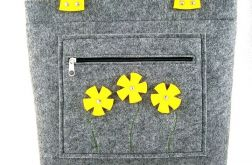 Yellow flowers in pocket