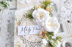 Ślubna kartka kaskadowa w pudełku 241