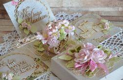 box na urodziny z koszem kwiatów