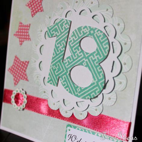 18 - Kartka na osiemnastkę KU009
