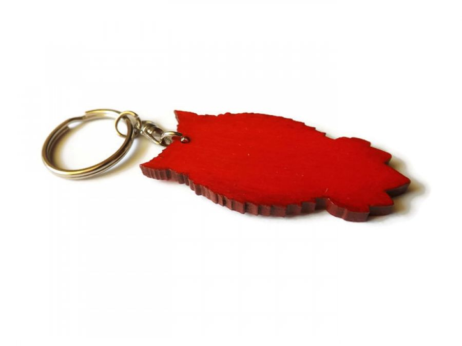 Breloczek Sowa Indiańska - czerwona