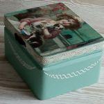 Pudełko z dziewczynką - Szkatułka na spineczki do włosów