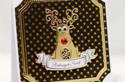 Renifer * Kartka świąteczna KBN1924