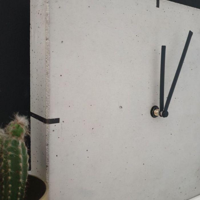Betonowy Zegar Stojący - Quadro - Zegar betonowy 1