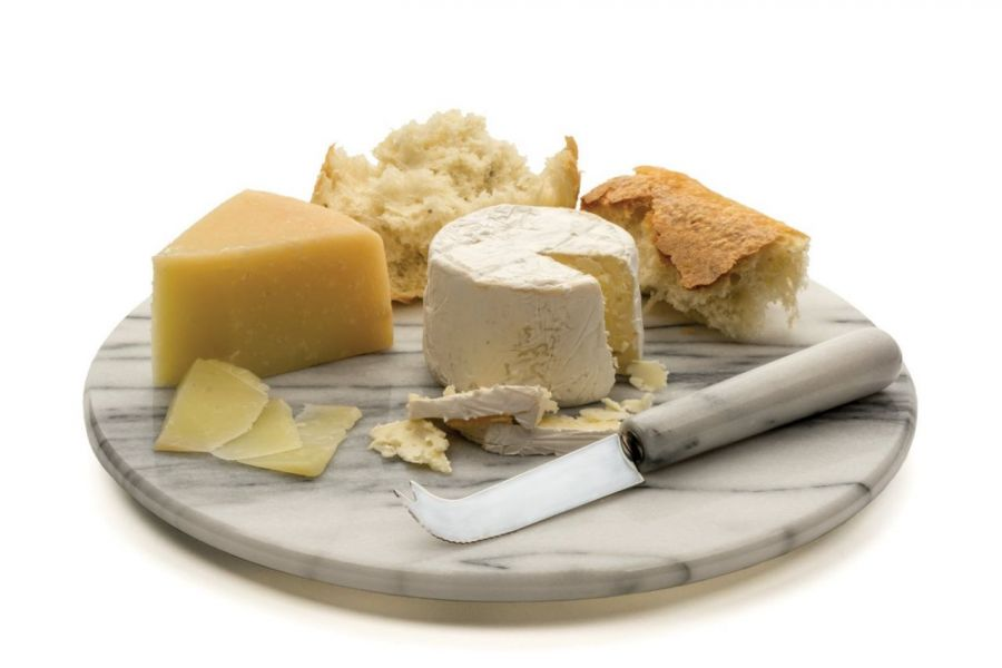 Taca do potraw z marmuru Bianco Carrara 30 cm -