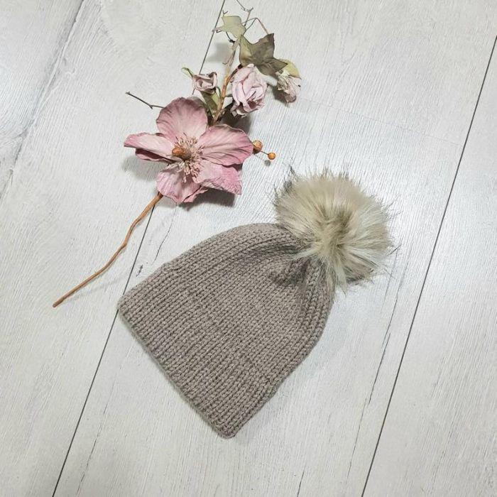 Czapka z podwójnym rondem, dla dziewczynki lub chłopca, na zamówienie - ciepła czapka